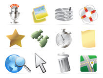 Icons for interface Stock Photography