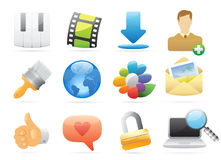 Icons for interface Stock Photos