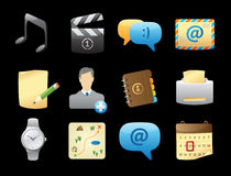 Icons for interface Stock Photo