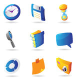 Icons for interface Royalty Free Stock Photos