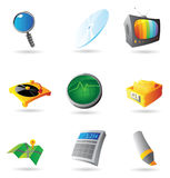 Icons for interface. Vector illustration Stock Photo