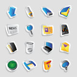 Icons for interface royalty free illustration