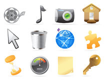 Icons for interface Stock Images