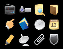 Icons for interface Royalty Free Stock Images