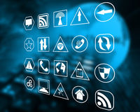 Icons interface Royalty Free Stock Images