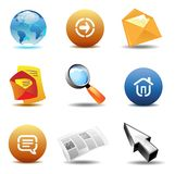 Icons for internet Royalty Free Stock Photo