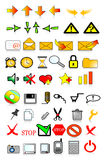 Icons  internet. Various web icons with internet theme Royalty Free Stock Photo