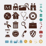 Icons for internet Stock Photography