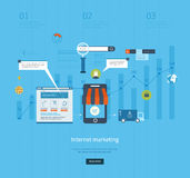 Icons for internet marketing, delivery and online Royalty Free Stock Photography