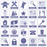 Icons for Internet and Website. Royalty Free Stock Photography
