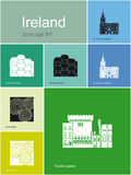Icons of Ireland Royalty Free Stock Photography