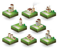 Icons isometric Stock Image