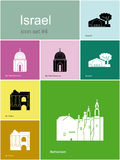 Icons of Israel Stock Photos