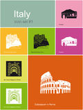 Icons of Italy Royalty Free Stock Photography