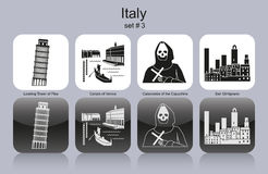 Icons of Italy Stock Photography
