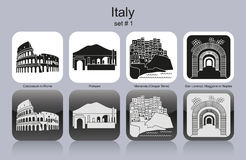 Icons of Italy Stock Photos