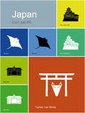 Icons of Japan Royalty Free Stock Image