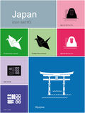 Icons of Japan Stock Photo