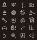 Icons of justice and law courts Royalty Free Stock Photos