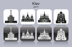 Icons of Kiev Royalty Free Stock Photos