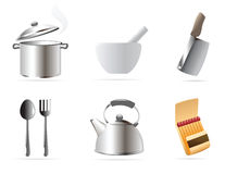 Icons for kitchen Stock Photography