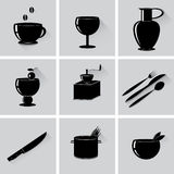 Icons Kitchen. Royalty Free Stock Photography