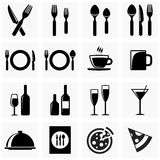 Icons for the kitchen. Set of vector icons for restaurant, cafe or other network power supply. Icons cutlery Stock Image