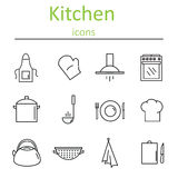 Icons kitchen. Vector illustration. Stock Image