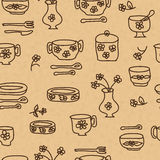 Icons of kitchen ware and utensils Royalty Free Stock Image
