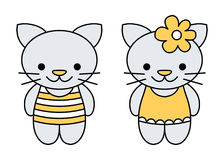 Icons of kittens. Royalty Free Stock Photo