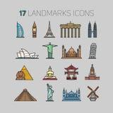 icons landmarks Stock Image