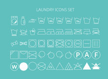 Icons laundry set Stock Photography