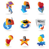 Icons for leisure. Travel, sport and arts. Vector illustration Stock Images