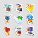 Icons for leisure. Travel, sport and arts. Vector illustration Royalty Free Stock Images