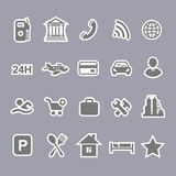 Icons for locations and services  airport shopping Royalty Free Stock Photo