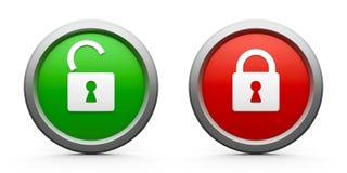 Icons lock open & closed Stock Photo