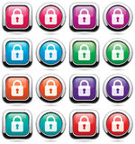 Icons with locks Royalty Free Stock Photos