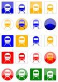 Icons locomotive Stock Photography