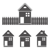 Icons - lodges and houses Stock Image