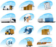 Icons Logistic Royalty Free Stock Photography