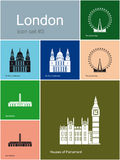 Icons of London Stock Image