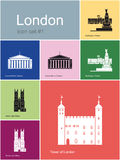 Icons of London Royalty Free Stock Photography