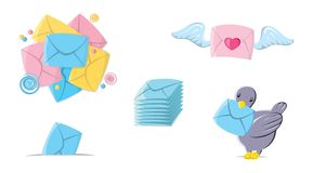 Icons mail Royalty Free Stock Photos