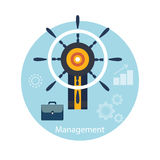 Icons for management concept Stock Photos