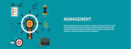 Icons for management concept Stock Photo