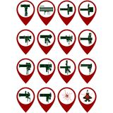 Icons with MANPADS Stock Image