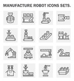 Icons. Manufacture robot icons sets on white background royalty free illustration