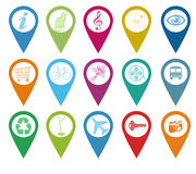 Icons for markers on maps Royalty Free Stock Photos