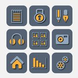 Icons markers Royalty Free Stock Photography