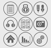 Icons markers Royalty Free Stock Images